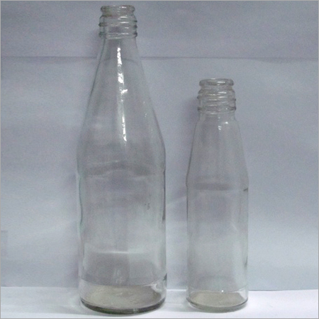 Empty Glass Ketchup Bottles
