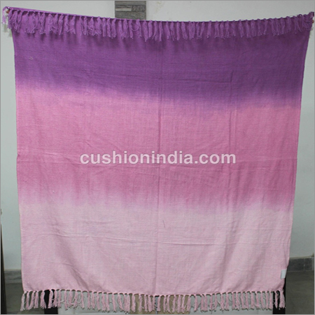 Ombre Shaded Effect Cotton Throw With Fringes