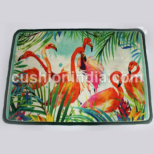 Flamingo  Birds  Image  Printed  Floor Mat