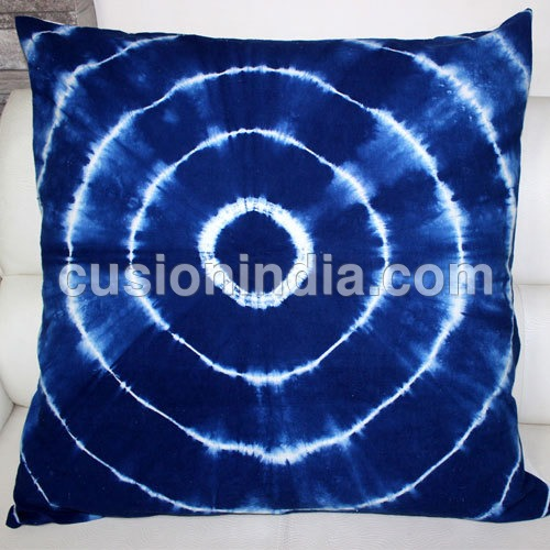 Shibori  Indigo Blue Printed  Cotton Duvet  with  Cushion Cover