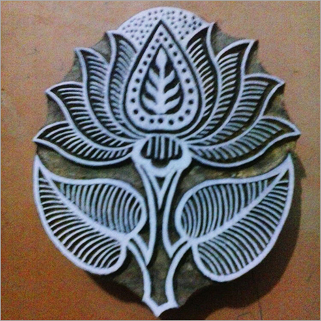 Wooden Lotus Printing Stamp