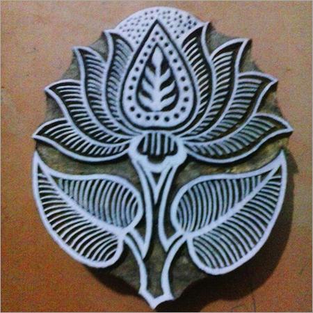 Wooden Lotus Printing Stamp