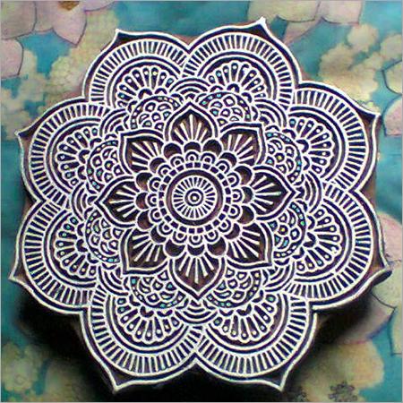 Wooden Chakra Printing Blocks