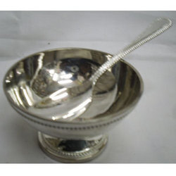 German Silver Ice Cup Spoon