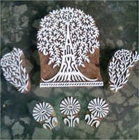 Wooden Tree Print Blocks