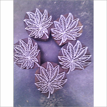Wooden Leaf Printing Blocks
