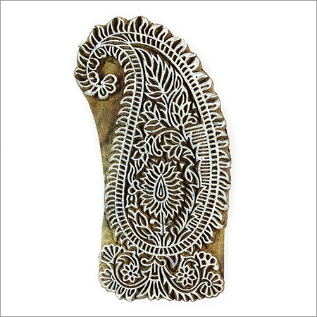 indian wooden paisley printing blocks for fabric printing 2 pcs pack