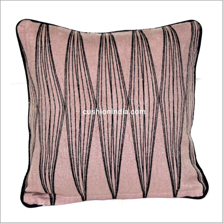 Line Art Soft Feel Printed Cushion Cover with Piepin