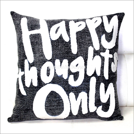 Write Up Theme Soft Cotton Cushion Cover