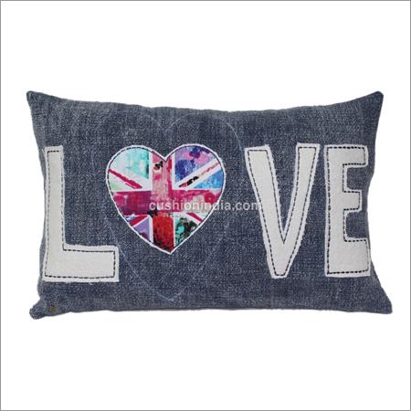 LOVE  written Designer Cotton Cushion Cover
