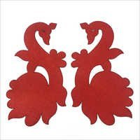 Mdf wood with red cloth ,colours available