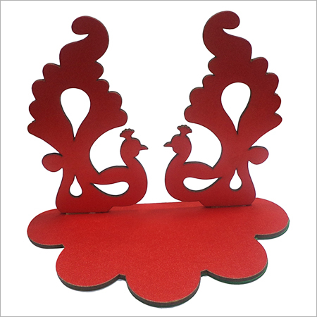Mdf wood with red cloth,Diya stand
