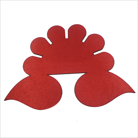 Mdf wood with red cloth