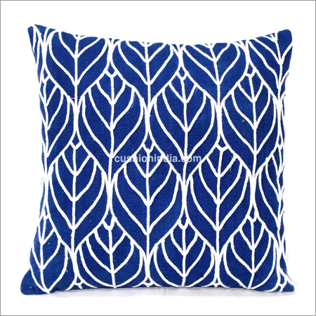 Thread Stitched Designer Cotton Cushion