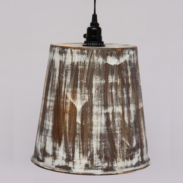 Iron Pendant Lamps Brown Antq