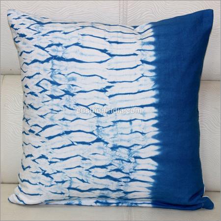 Shibori Effect Tye Dye Printed Chequered Cotton Cu