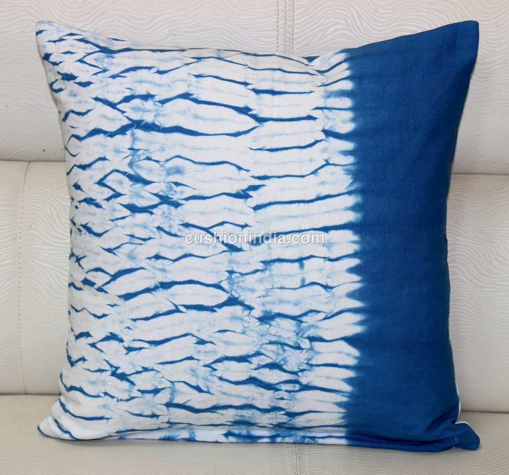 Tye & Dye Printed Cotton Cushion Cover