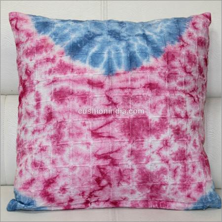 Shibori work Printed Cotton Cushion Cover