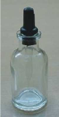 Dropping Bottle, Indian glass with borosil glass ground fitted dropper and rubber