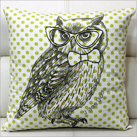 OWL  Theme Dotted  Designer Cushion Cover