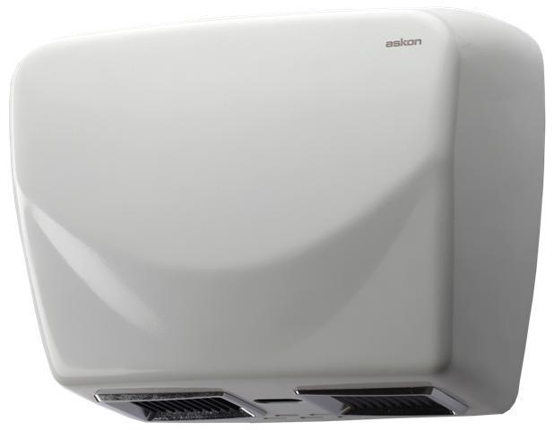 Steel Twin Blower Hand Dryer (White)