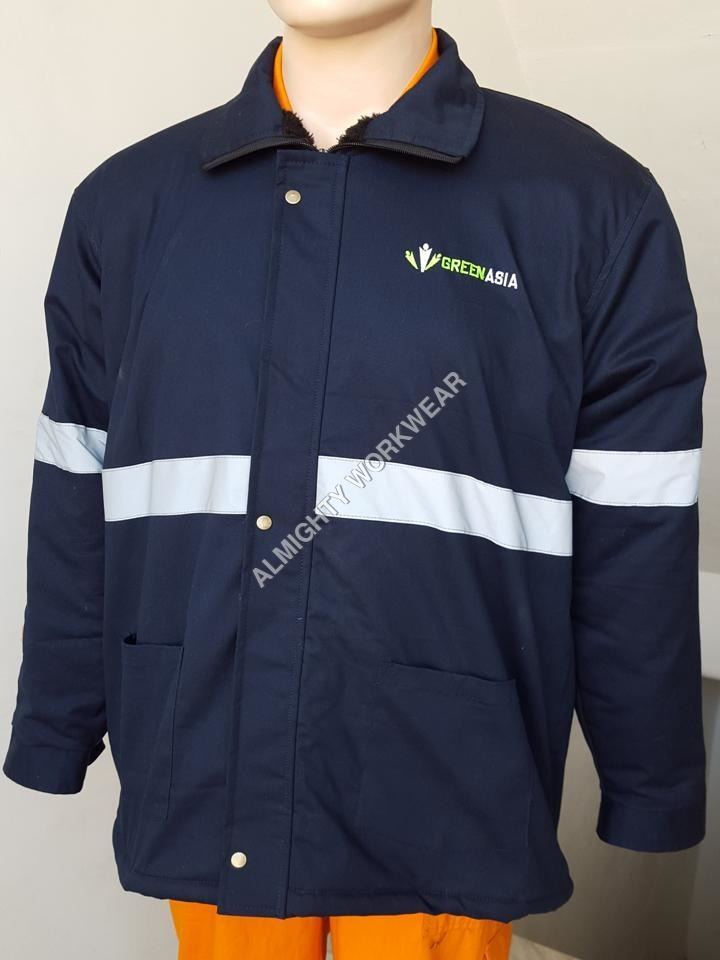 Security Jacket - Hi Visible silver Tape