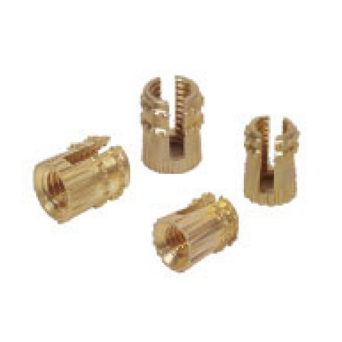 Brass Knurled Slotted Insert