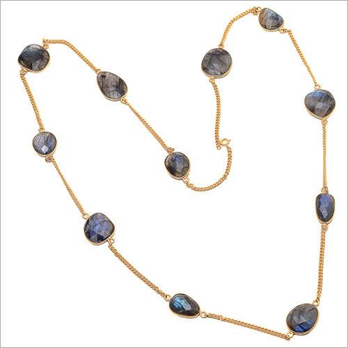 Labradorite Gemstone Chain Necklace