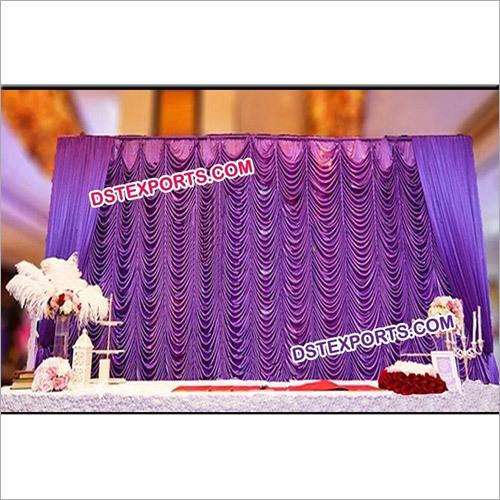 Wedding Elegent Mandap Stage Backdrop Curtain