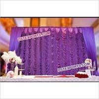 Wedding Elegent Mandap Stage Backdrop Curtain