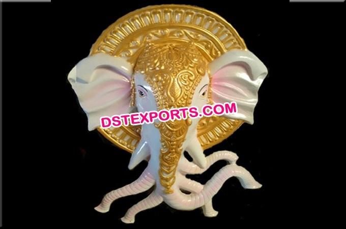 Fiber Ganesha Statue For Wallhanging