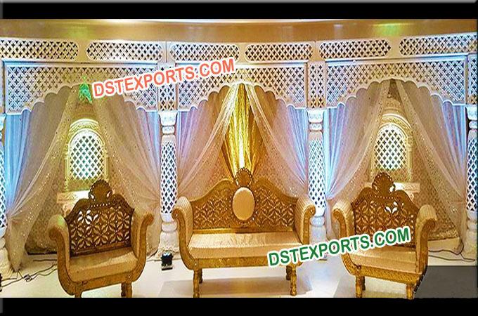 Fiber Stage Indian Mandap Wedding Decoration