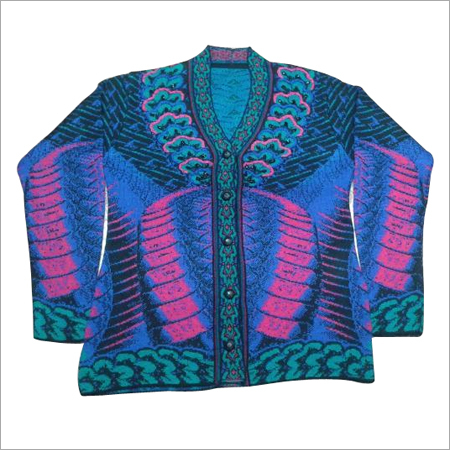 Ladies Printed Cardigan