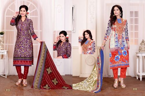 Cotton Work Dress Material