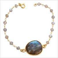Labradorite Gemstone Chain Bracelete