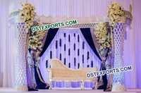 Wedding Halfmoon Plazo Crystal Stage Set