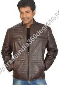 Leather Diamond Jacket