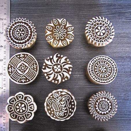 Wooden Round Printing Block