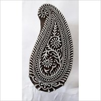 paisley wooden printing blocks for making print on fabric and paper