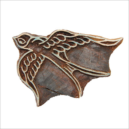 Wooden Bird Printing Block
