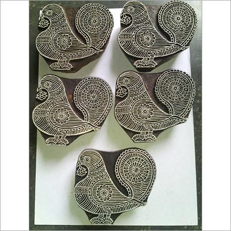 Pigeon Printing Wooden Block