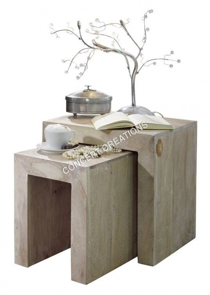 Wooden Stool Set of 2