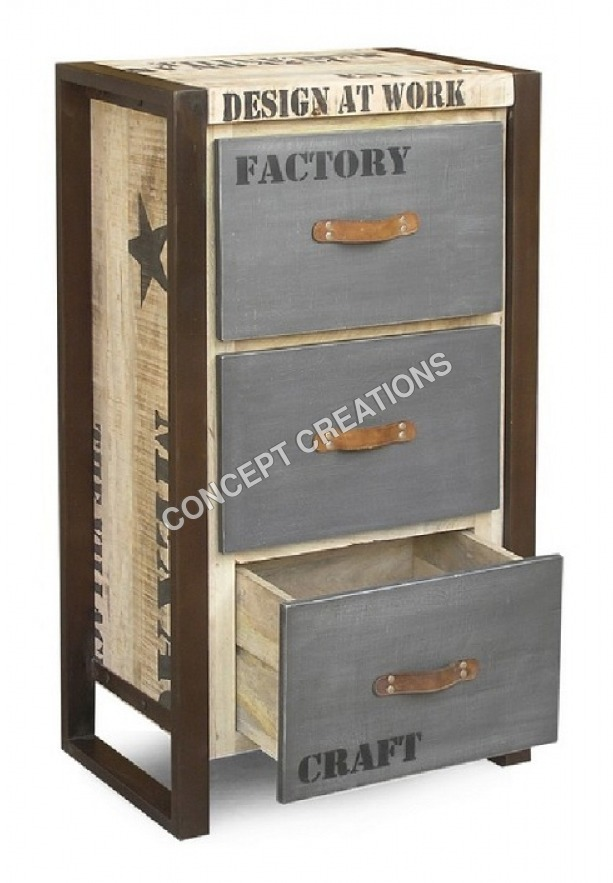 Iron Wooden Drawerchest