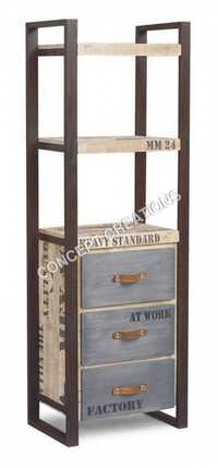 Iron Wooden Bookrack