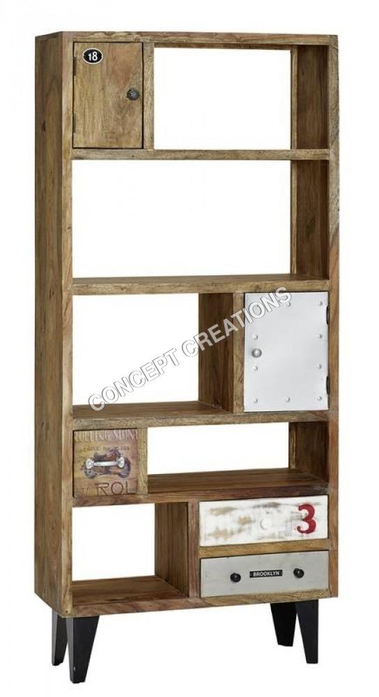 Iron Wooden Bookrack