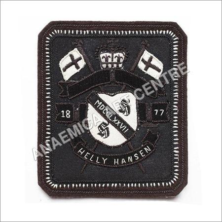 1877 helly hansen bullion metal wire badge
