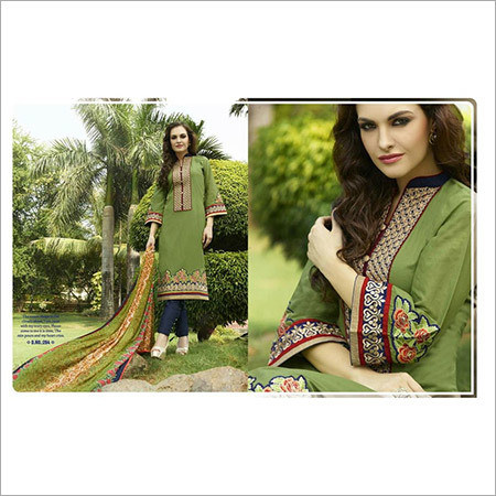 Designer Neck Embroidery Suits