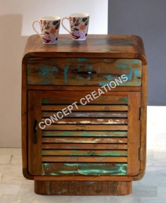 Reclaimed Wooden Bedside