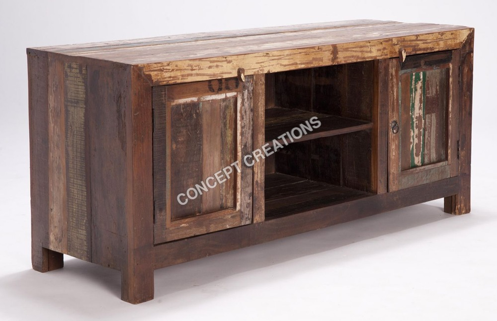 Reclaimed Wooden TV Cabinet