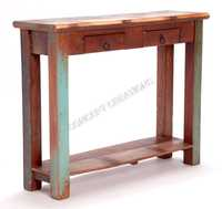 Reclaimed Wooden Console Table